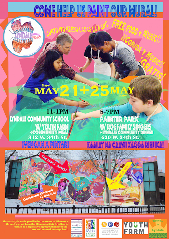 Lyndale Community Paint Parties flyer