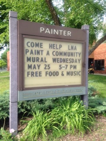 Painter Park sign.