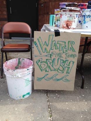 Brush washing at Painter Park.