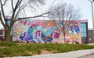 The main mural.