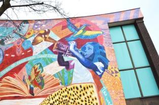 Main mural close-up.